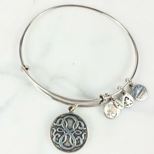 ALEX and ANI Silver Path of Life Charm Bracelet